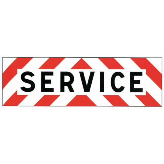 PANNEAU SERVICE 500X150 ADHESIF CLASSE A