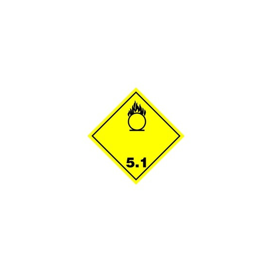 Symbole de danger ALU 250 X 250 N °5.1