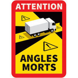 ETIQUETTE / AUTOCOLLANT (stickers) de signalisation des angles morts