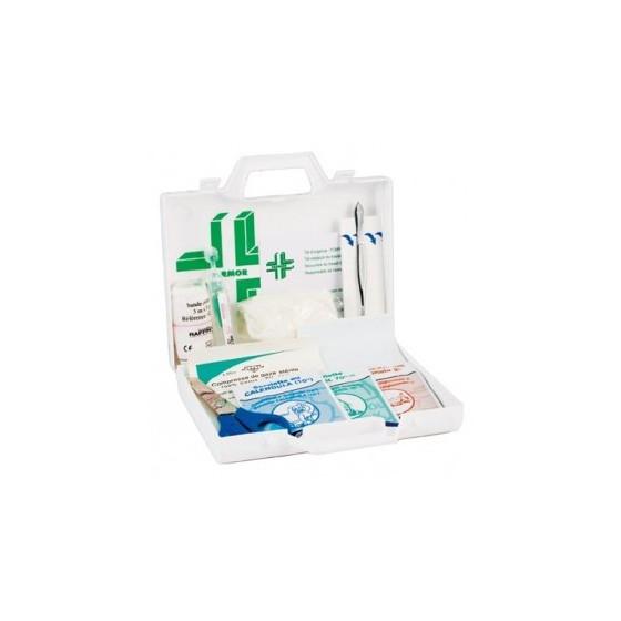 Coffret de secours individuel polyproylène blanc